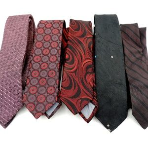 Other - 5 Vintage Skinny Ties Retro Cool
